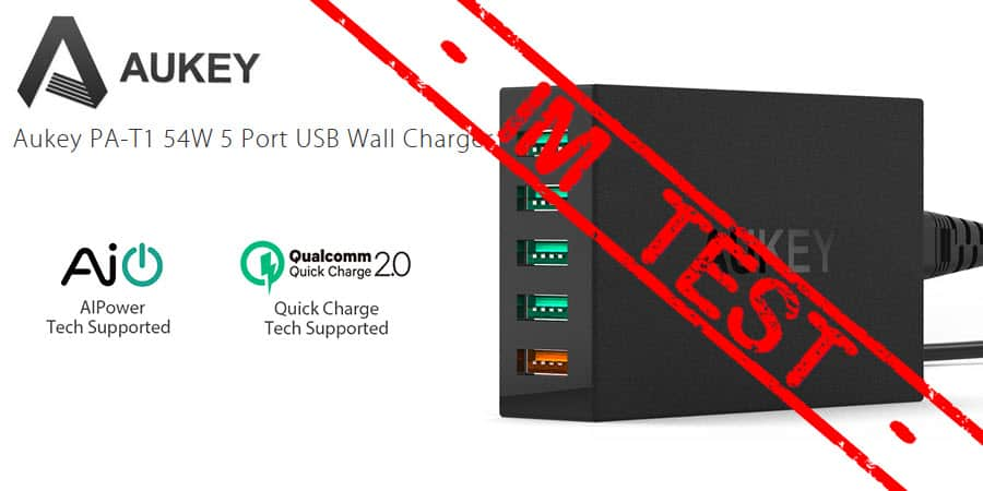 Aukey PA-T1 Quick Charge 2.0 Ladegerät Banner