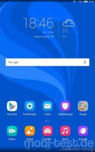Huawei MediaPad M2 8.0 Homescreen