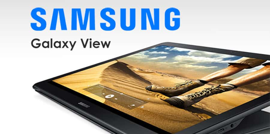 Samsung Galaxy View Banner