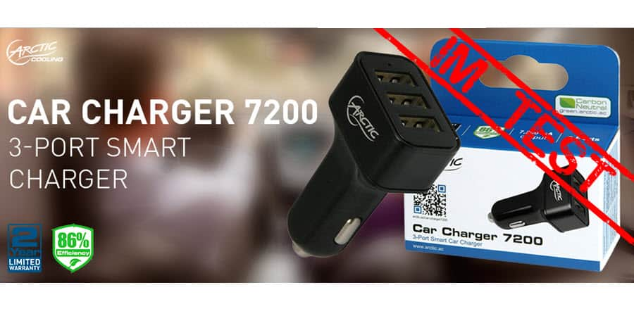 Arctic Car Charger 7200 Banner