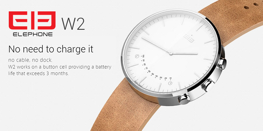 Elephone W2 Smartwatch Banner