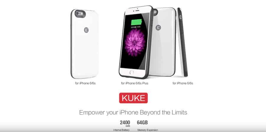 KUKE iPhone Akku Case Banner