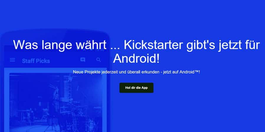 Kickstarter Android App