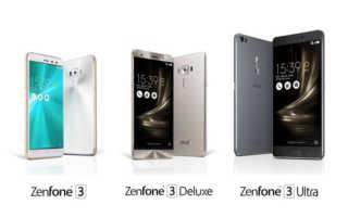 ASUS ZenFone 3, ZenFone 3 Ultra und ZenFone 3 Deluxe – die drei Neuen im Überblick