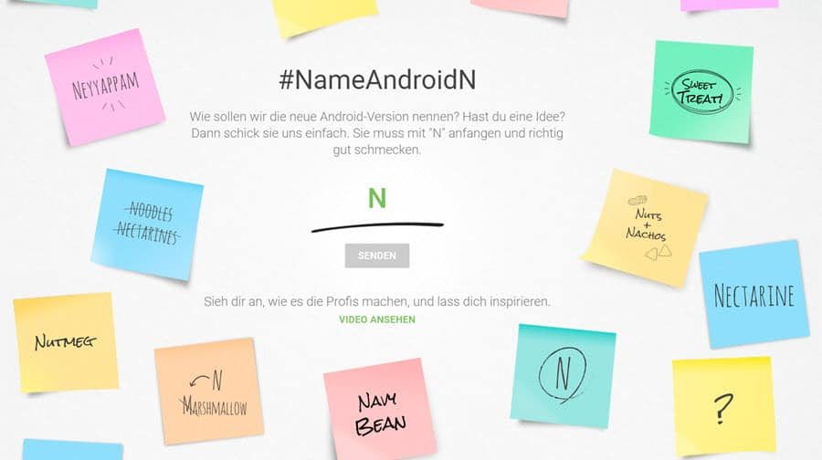 Android N Name Banner