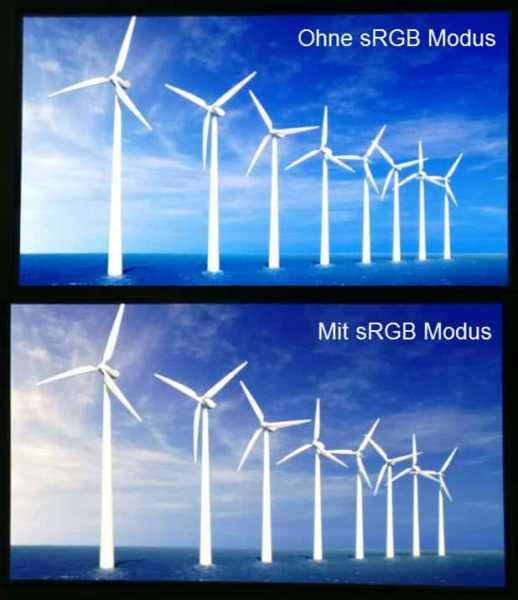 OnePlus sRGB Modus