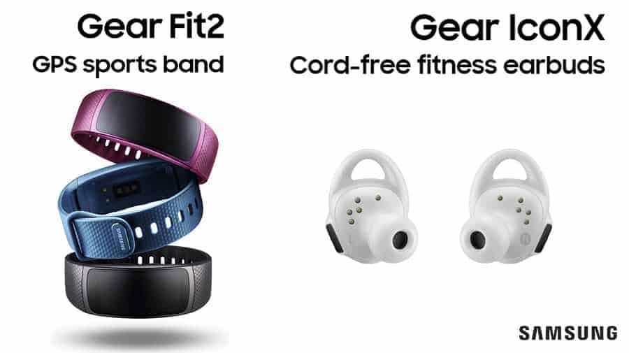 Samsung Gear Fit2 und Gear IconX Banner