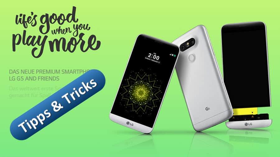LG G5 Tipps und Tricks Banner