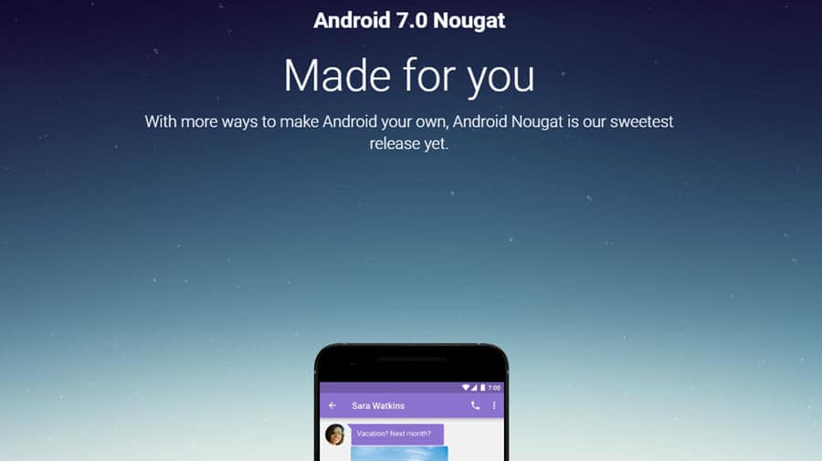 Android 7.0 Nougat Banner