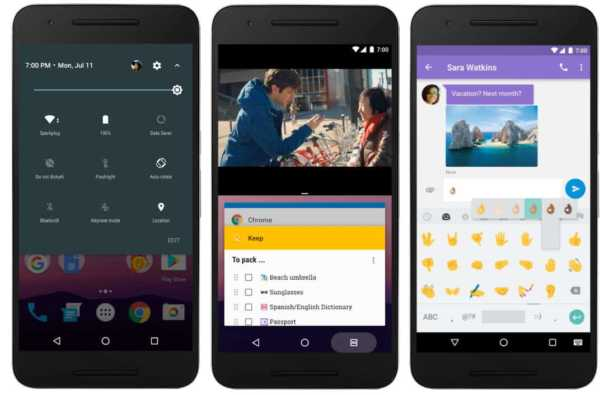 Android 7.0 Nougat Screenshot