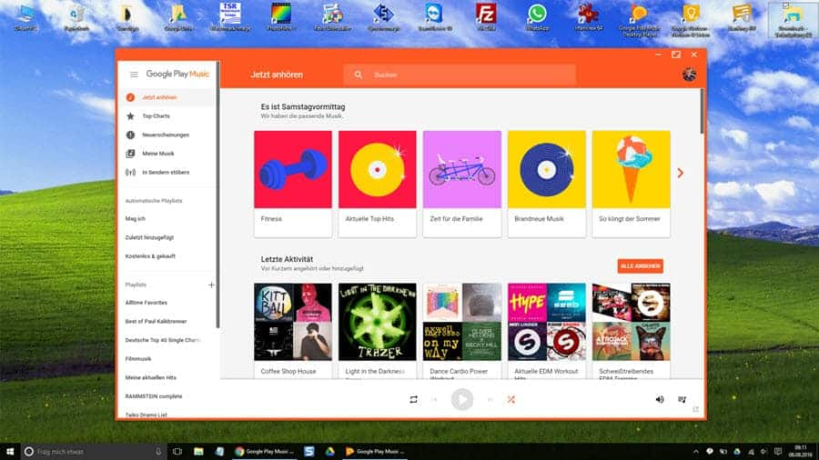 Google Musik Desktop Player Banner