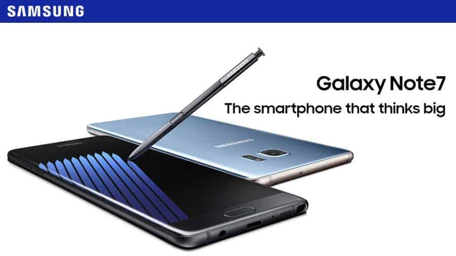Samsung Galaxy Note 7 Banner