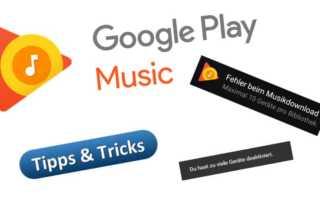 So löst man Probleme beim Google Play Music Geräte deaktivieren