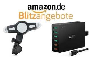 Interessante Blitz-Angebote bei Amazon – eine geniale Kopfstützenhalterung und ein 6fach Quick-Charge 3.0 Ladegerät von Aukey