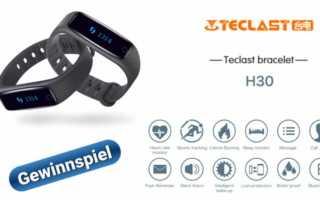Gewinnspiel – ein Teclast H30 Fitnesstracker mit Pulsmesser