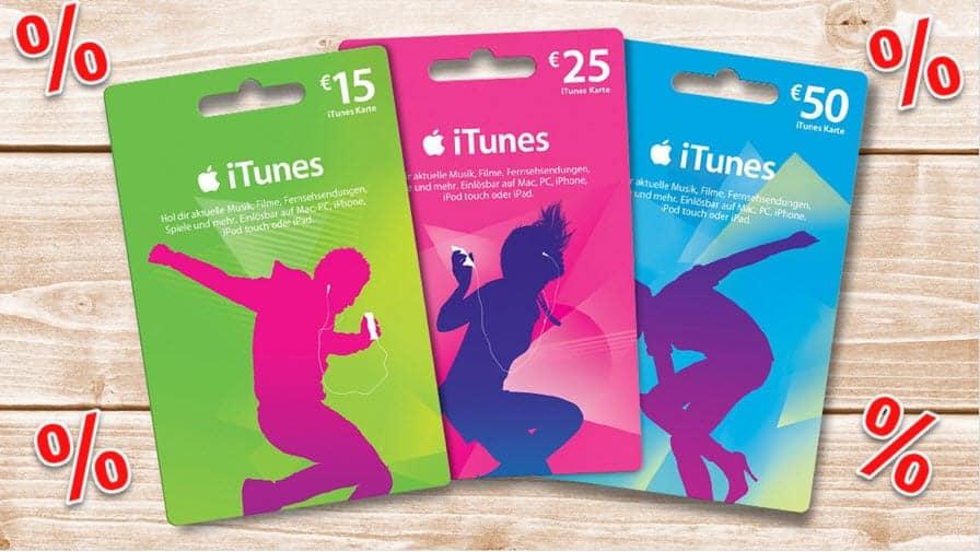 iTunes - hier gibt es bis zu 33% Rabatt auf die Guthabenkarten