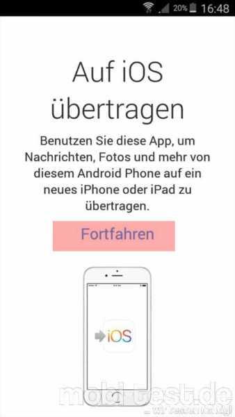 Android auf iOS umziehen (1)