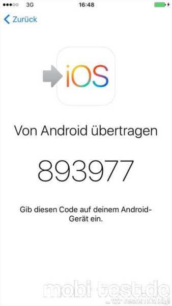 Android auf iOS umziehen (10)