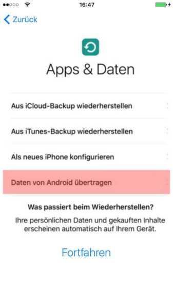 Android auf iOS umziehen (9)