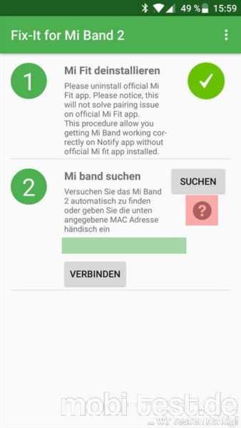 Xiaomi Mi Band 2 – eine weitere Lösung bei Problemen mit der