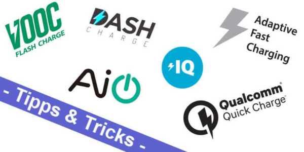 Android mal einfach - wo liegen die Unterschiede von Quick Charge, Fast Charge, Dash Charge und den anderen?