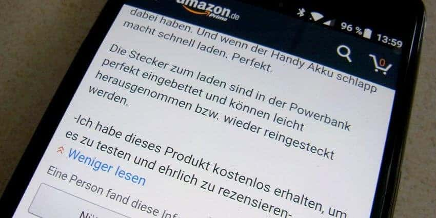 Gekaufte Bewertungen bei Amazon - der Beschiss geht weiter