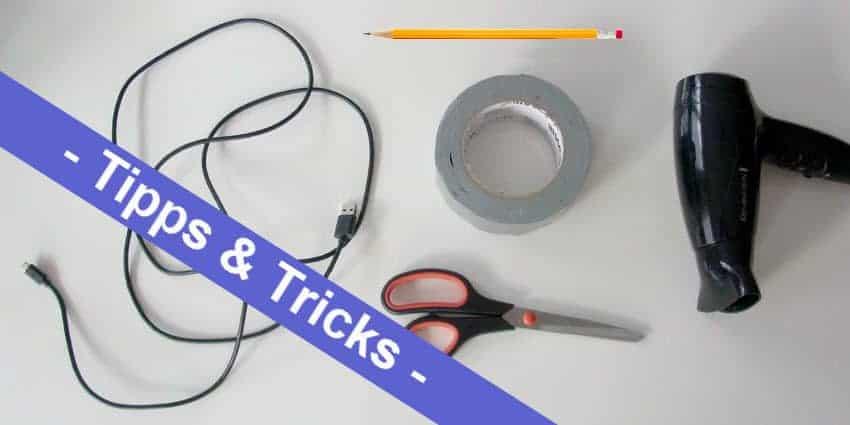 DIY Life Hacks - ein Spiralkabel für das Handy ruck zuck selber gemacht