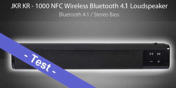 Im Test - der JKR KR - 1000 NFC aka SL-1000S Wireless Bluetooth Lautsprecher