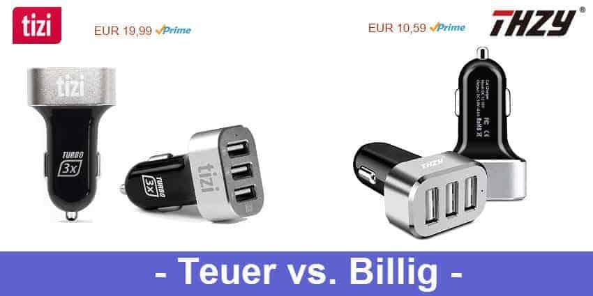 Teuer contra Billig - zwei KFZ Ladegeräte von tizi und THZY getestet und zersägt