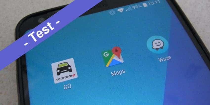 Vergleichstest - Google Maps vs. TomTom Go Mobile vs. Waze