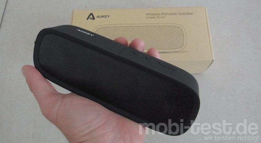 Im Test - der AUKEY SK-M7 Bluetooth Lautsprecher mit 6W - mobi-test