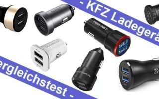 Im Test – sieben KFZ Ladegeräte mit 24W und zwei USB Anschlüssen unter 10 Euro