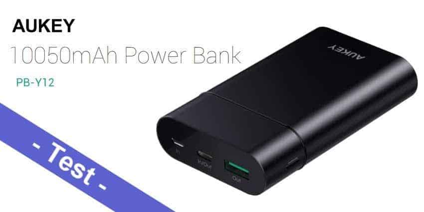 Im Test - die Aukey PB-Y12 USB C Power Bank mit 10050 mAh