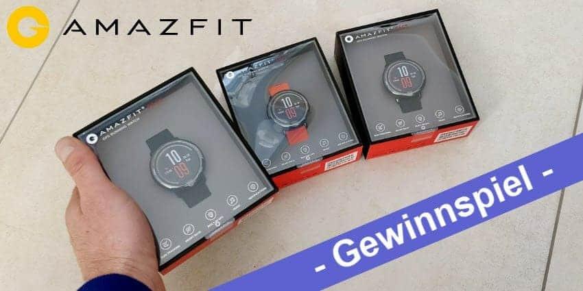 Gewinnspiel - wir verlosen drei Xiaomi Amazfit Pace Smartwatch mit GPS