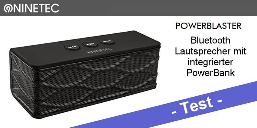 Im Test - der Ninetec Powerblaster 2in1 Bluetooth Lautsprecher