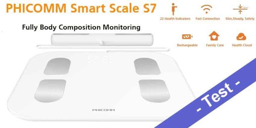 Im Test - die smarte Waage Phicomm Smart Scale S7
