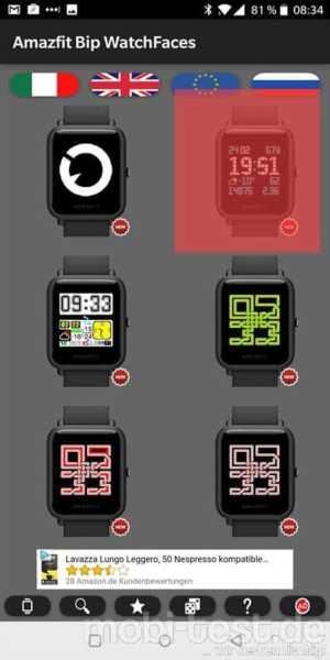 Amazfit Bip Watchfaces finden und installieren leicht