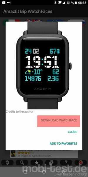 Amazfit Bip Watchfaces finden und installieren leicht gemacht - mobi