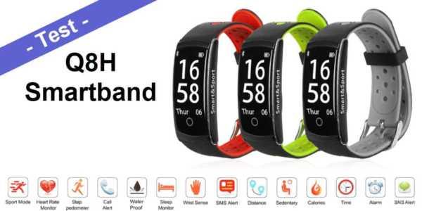 Im Test - das Q8H Smartband aka Eco Z11 Smart Bracelet