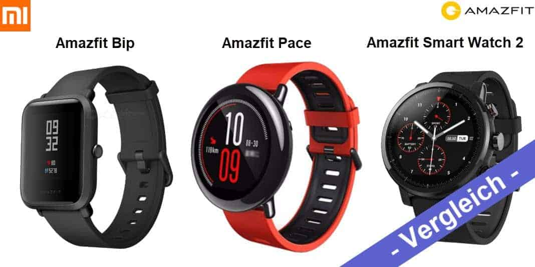 Vergleich - Xiaomi Huami Amazfit Bip vs Amazfit Pace vs Amazfit Sport Watch 2 Stratos