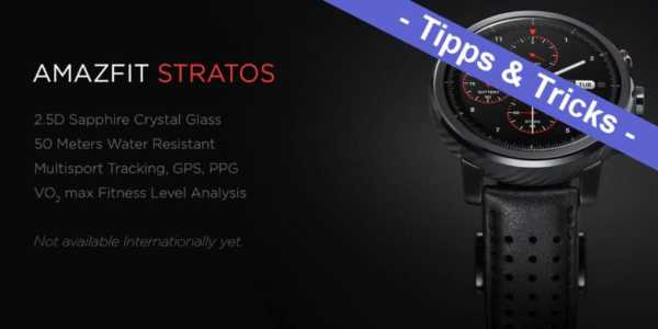 Amazfit Stratos - STRATOSfied ROM installieren