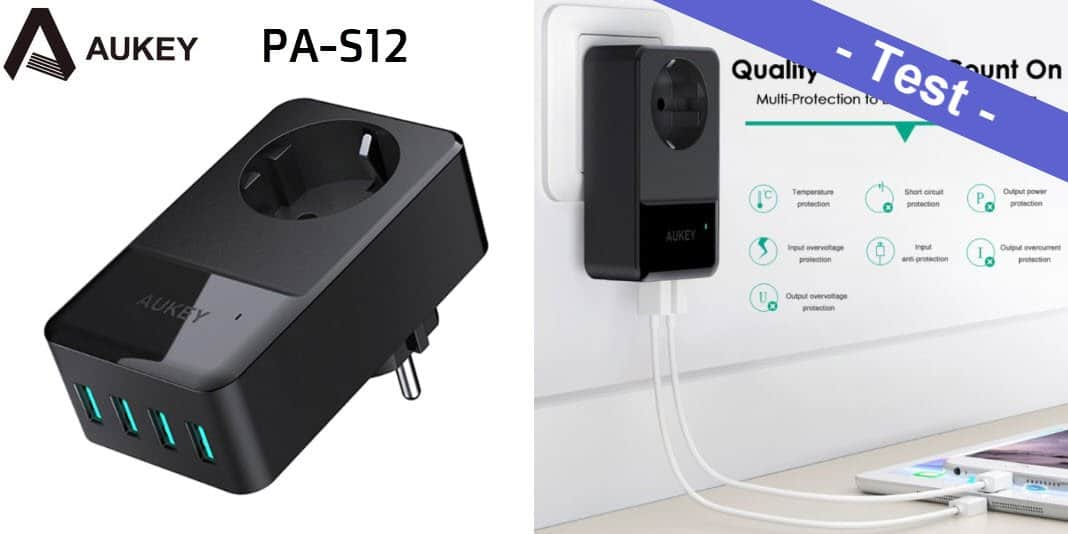 Im Test - das Aukey PA-S12 USB Ladegerät mit Steckdose