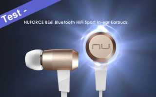 Im Test- das Nuforce BE6i Bluetooth In-Ear Sport Headset