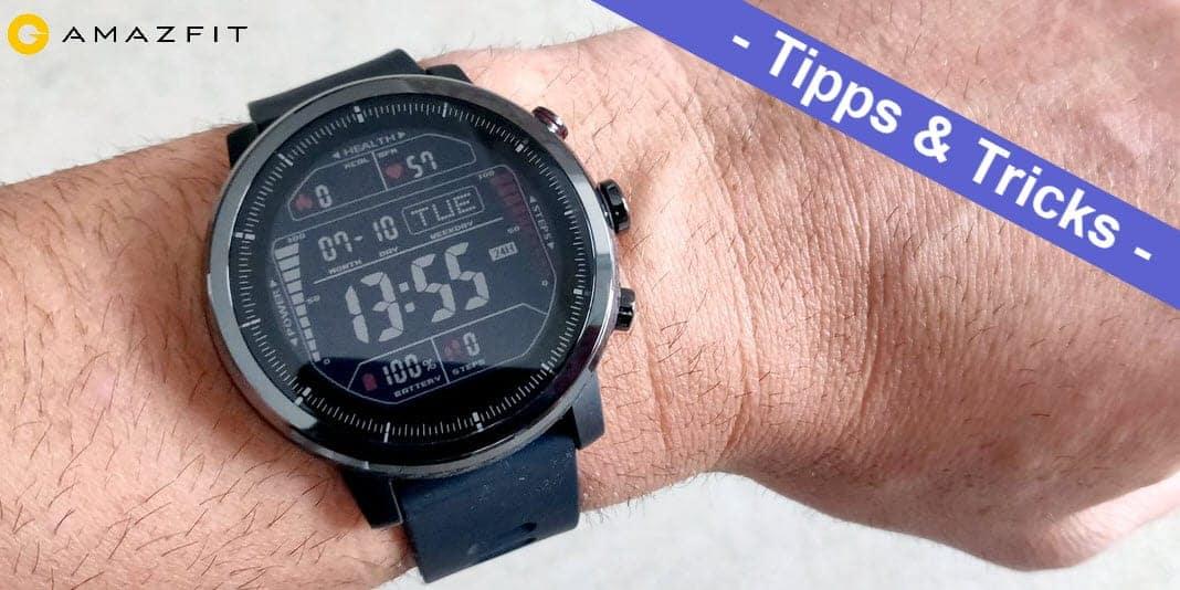 Amazfit Stratos - so installiert man ein Watchface ohne PC