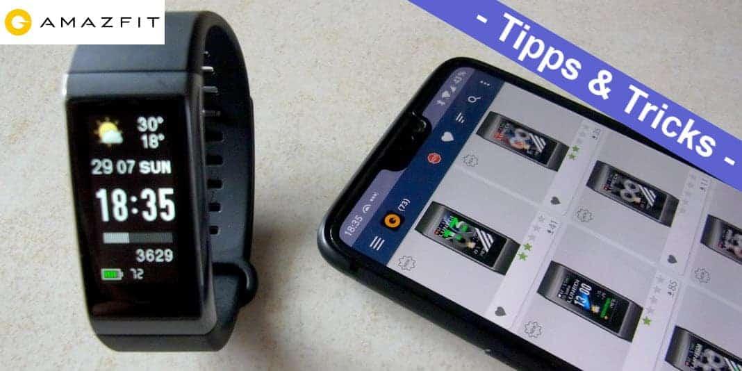 Amazfit Cor Midong - Watchfaces mit der App Amazfit Bip & Cor WatchFaces installieren