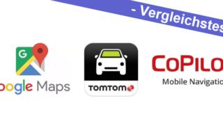 Vergleichstest – Google Maps vs. TomTom Go Mobile vs. CoPilot