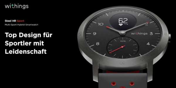 Withings Steel HR Sport - konfigurierbare Hybrid-Smartwatch mit langer Akkulaufzeit