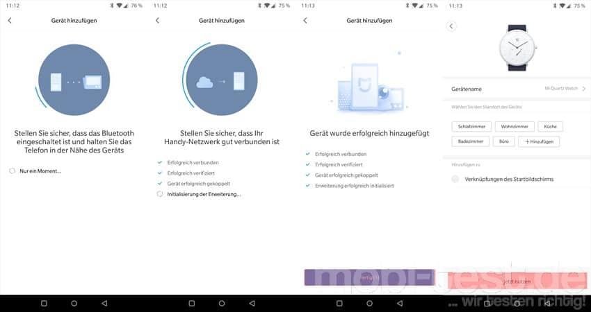 xiaomi mijia smartwatch watch app verbinden englisch. Black Bedroom Furniture Sets. Home Design Ideas