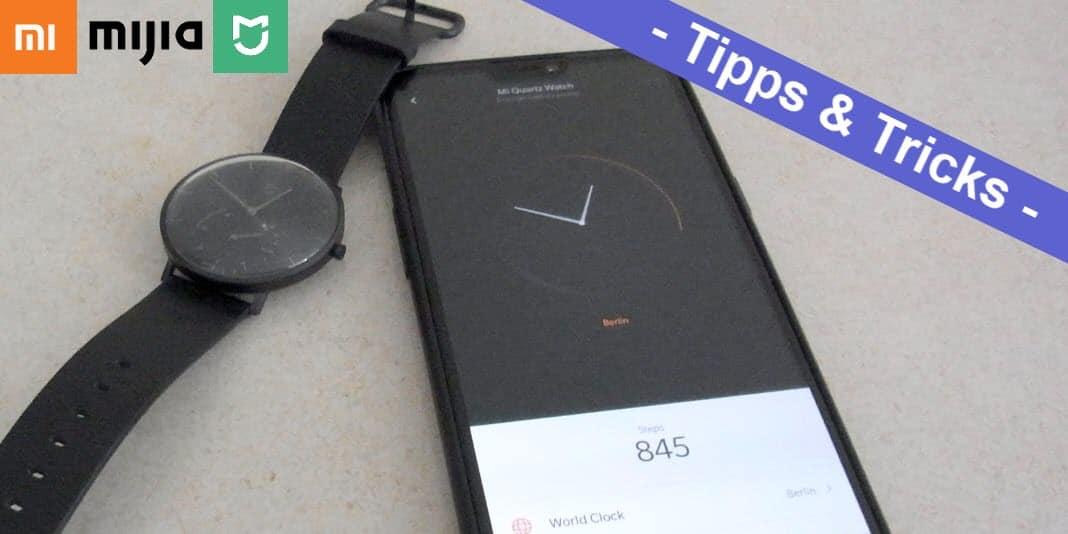 Xiaomi Mijia Smartwatch verbinden und auf Englisch umstellen