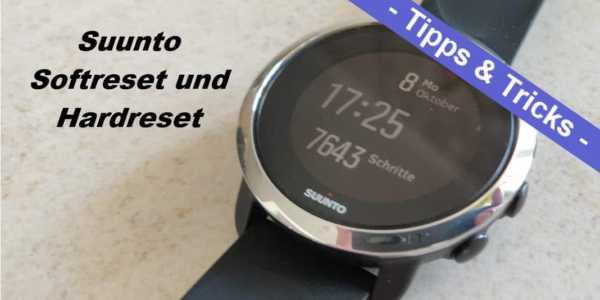 Suunto Reset - so setzt man die Smartwatch zurück